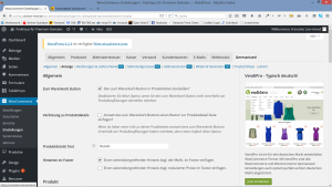 Screenshot: WooCommerce Germanized Shopeinrichtung