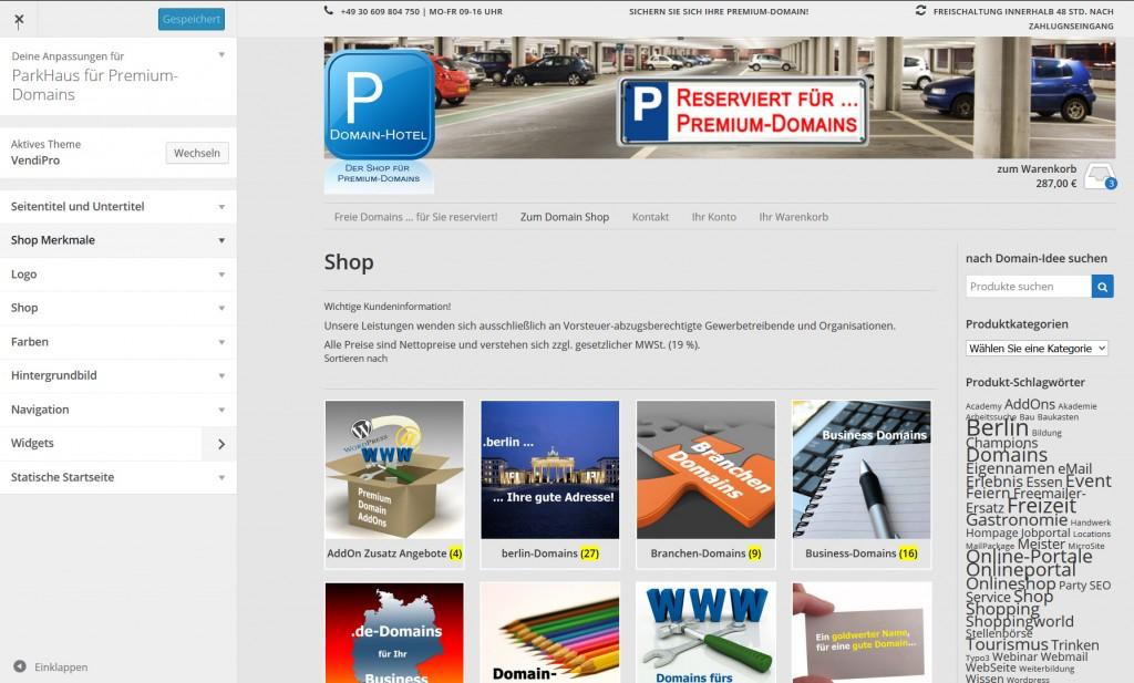VendiPro Shoptheme einrichten