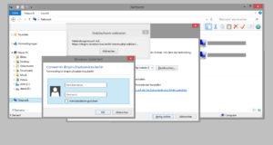Verbindung zum Datencloudserver erfordert Zugangsdaten zur Datencloud