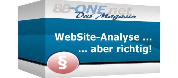 Juristische Anforderungen an WebSite-analyse Werkzeuge