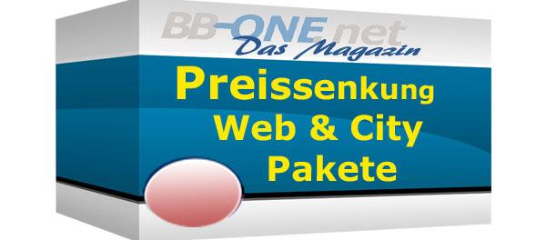 Preissenkung für Web- und Citiy Pakete
