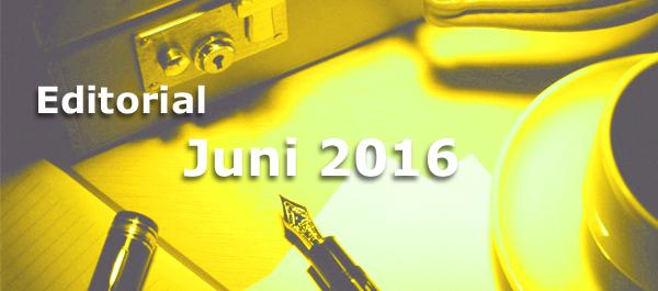 Editorial des BB-ONE.net Internet Magazins Juni 2016