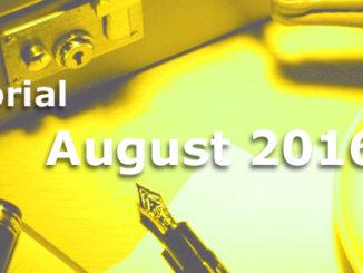 Editorial des BB-ONE.net Internet Magazins im August 2016