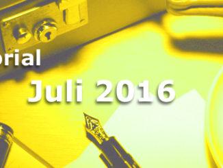 Editorial des BB-ONE.net Internet Magazins im Juli 2016