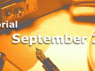 Editorial des BB-ONE.net Internet Magazins im September 2016