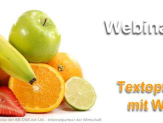 SEO Textoptimierung