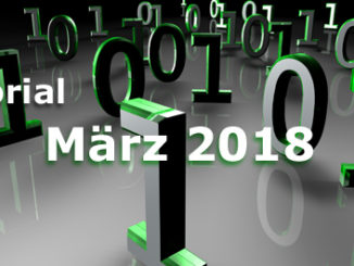 Editorial Internet Business Magazin März 2018