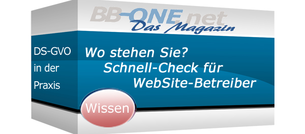 Der DS-GVO Schnell-Check für KMU-WebSite Betreiber