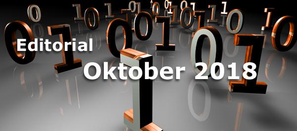 Editorial Oktober 2018 - Soziale Netzwerke unter Druck und modernes Webdesign