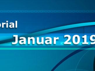 Editorial Januar 2019 Rückblick 2018, Vorschau 2018