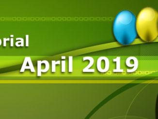 Editorial April 2019 - Webdesign Regeln, Best Practice Webinare eBusiness Lotse Berlin, EU Reform Urheberrecht