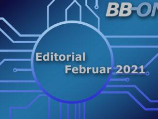 Editorial BB-ONE.net Magazin Jauar 2021, Thema des Monats Standards: CMS up to date halten, professionelles Geschäftgebaren pflegen